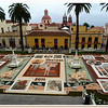 The sand carpets in the city hall plaza of La Orotava take weeks to prepare using natural coloured volcanic sands taken from the mountain, drizzled onto the stones of the plaza.