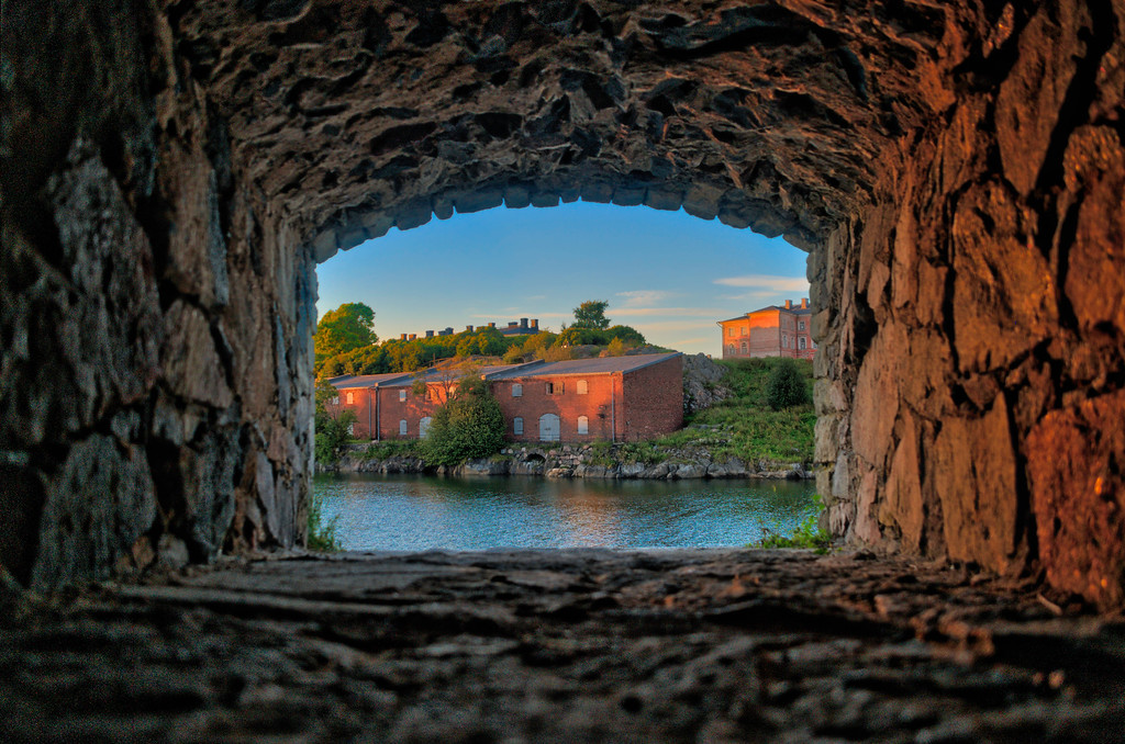 Suomenlinna, through a window