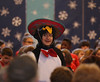 HOLLY PELCZYNSKI - BENNINGTON BANNER Seventh grader Nicholas Segura is festive while wearing a sombrero while dressed as a penguin during the annual Christmas concert at The School of Sacred Heart St. Francis de Sales on Friday in Bennington.