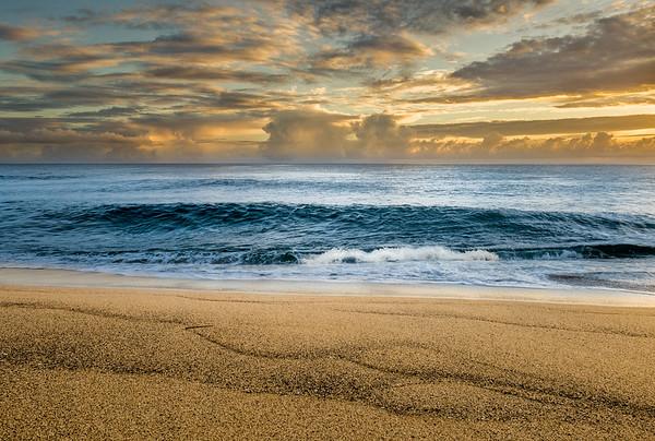 Golden Hawaiian Sand and Sky
