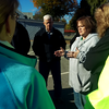 State Rep. Colleen Garry instructs volunteers at Hovey Park. SUN/CHRIS TIERNEY