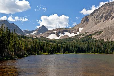 View from Mitchell Lake II - Pawnee Peak, Mt. Toll, Paiute Peak and Mt. Audubon