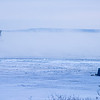 Steam over the open water, but fishing on the ice in Agate Bay, Two Harbors