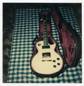 Les Paul Custom - pictured on the floor of 121 Andover Road