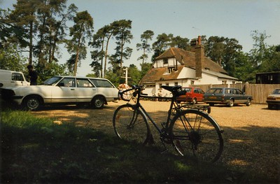Having a Rest - London to Brighton BIke Ride 1986
