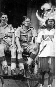 Frederick George Crame (centre)  in Burma