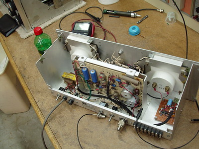 Next project was to add a counter so I could easily see the frequency the Boat Anchor transmitters were on.