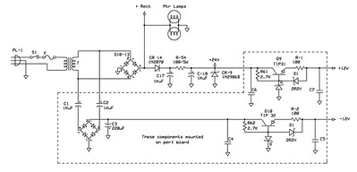 Schematic for the added power supplies.