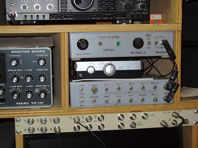 The control/patch panels, with the station recorder.