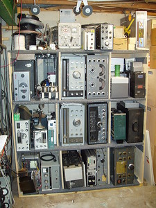 The storage area, all radios shown here  operate as of May of 17.