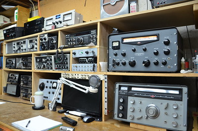 The radios currently on the bench.