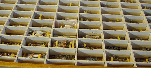 The resistor drawer.  The hard part was gluing all those little labels in place. :