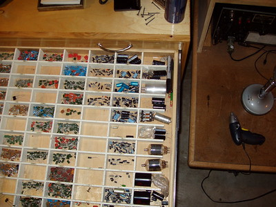 The Cap drawer, these pics are a few years old, taken rite after the unit was built.