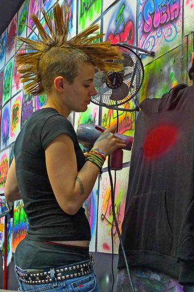 Airbrush artist on the boardwalk - Wildwood, NJ - 2010