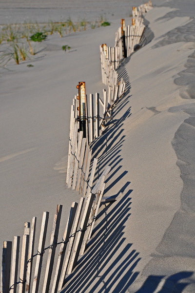 Fence in the sand - Wildwood Crest, NJ - 2011