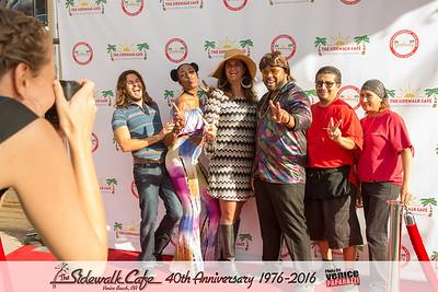 The Sidewalk Cafe celebrates 40 years in Venice, California. 1976-2016. www.TheSidewalkCafe.com.  Photo by www.VenicePaparazzi.com.