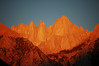 Inspiration: Mount Whitney at early dawn as viewed from Lone Pine Campground the morning our trip began.