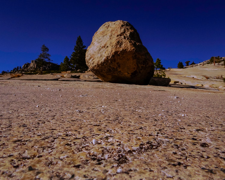 Glacial Polish and Erratic at Olmsted Point