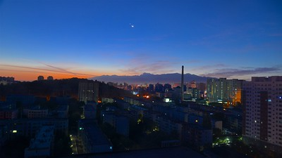 Dawn at Urumqi