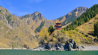 Boat ride on Heavenly Lake at Urumqi