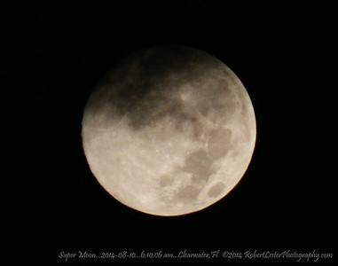 Super Moon...2014-08-10...6:10:06 am...Clearwater,Fl   ©2014 RobertLesterPhotography.com