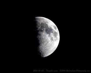 2014-10-02...Tonight's moon   ©2014 RobertLesterPhotography.com