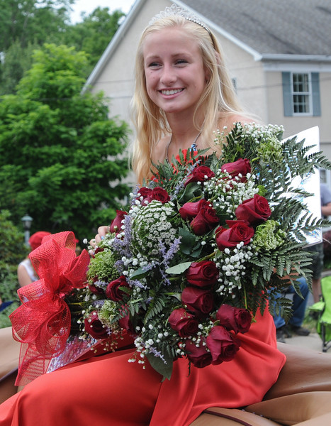 John Strickler - Digital First MEdia<br /> Mikayla Westfall was this year's Skippack 4th of July parade queen rides in the parade Monday.