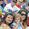 John Strickler - Digital First Media<br />  Gabriella Gallo along with Sophia Seminaro and her daughter Valentina Seninaro watch the Skippack 4th of July parade.