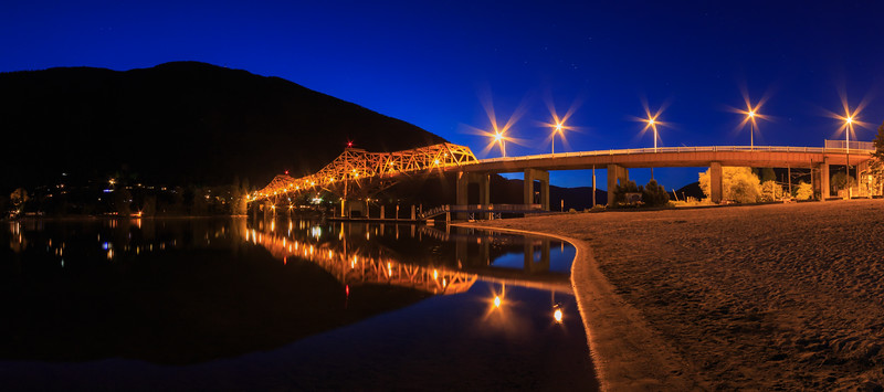Nelson Bridge At Night