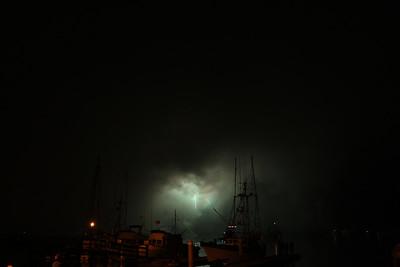 Storm or fireworks