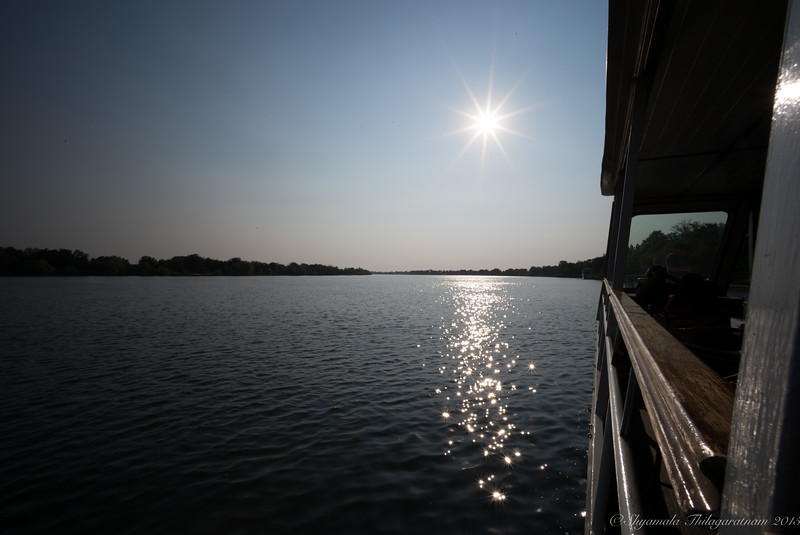 Sunset cruise down the Zambezi