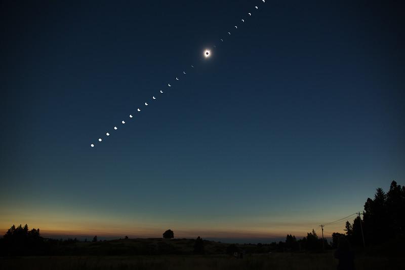 Total solar eclipse, Salem, OR