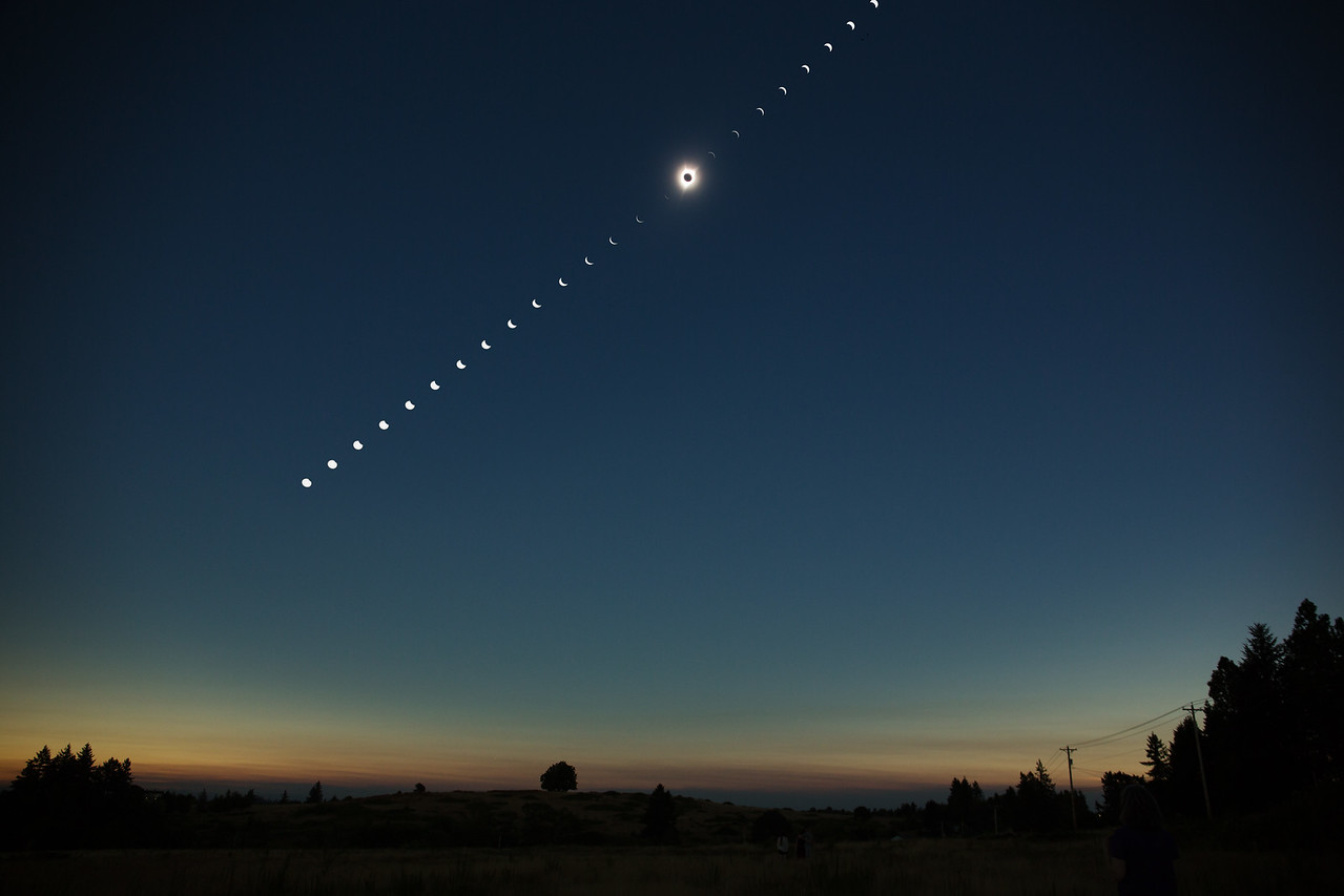 Total solar eclipse, Salem, OR