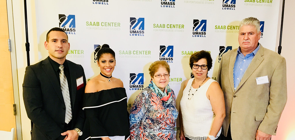 . From left, Saab advisory board Daniel Melo of Methuen, Shana Silva and Maria Bernardo of Lowell, and Teresa and Helio Melo of Salem, N.H.