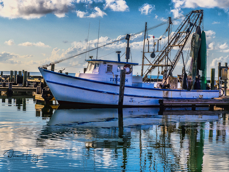 Shrimp boat in Cove Harbor