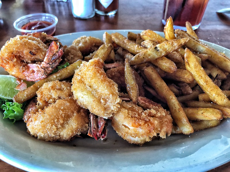 Fried Shrimp Platter from Charlotte Plummer's, Rockport