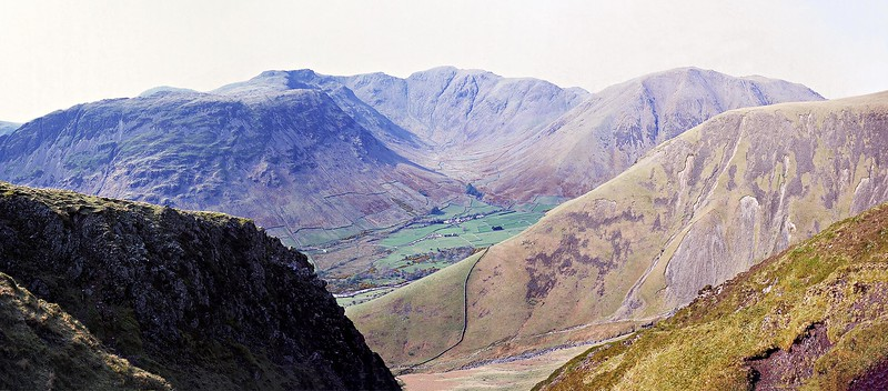 Wasdale Head from Rakehead Gill on Scafell