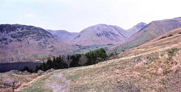 Wasdale Head from the Burnmoor Tarn Path