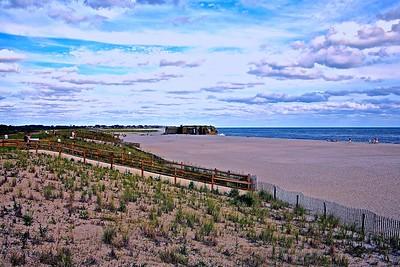 World War II Gun Battery on the Beach in Cape May