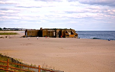 World War II Gun Battery on the Beach in Cape May