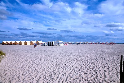 The Congress Hall Beach in Cape May