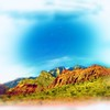 Airbrush art of Red Rock Canyon in Nevada by digital artist and photographer Deborah Carney DSCN4360