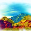 Airbrush art of Red Rock Canyon in Nevada by digital artist and photographer Deborah Carney DSCN4343