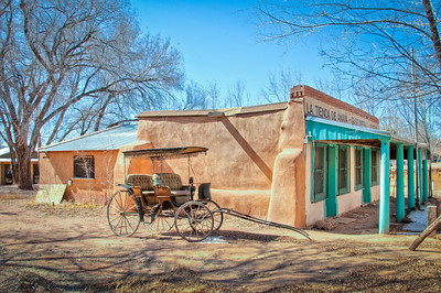 """The Galisteo Basin has been continuously occupied by a diverse collection of peoples and cultures since pre-historic times and remained sparsely populated until about the 12th century. Up to that time, the Basin was a trade route for turquoise, malachite, and lead—materials mined in the Cerrillos Hills. In the 1820s, a growing supply of goods and materials flowed into New Mexico after trade restrictions were lifted, and the Santa Fe Trail was formally established. By 1821, 45,000 people lived in New Mexico. Around this time, gold was discovered in the Ortiz Mountains. During the 10-year period of the """"Ortiz Gold Rush,"""" more than 10 percent of New Mexico's winter population lived in the Ortiz Mountains prospecting for gold."""