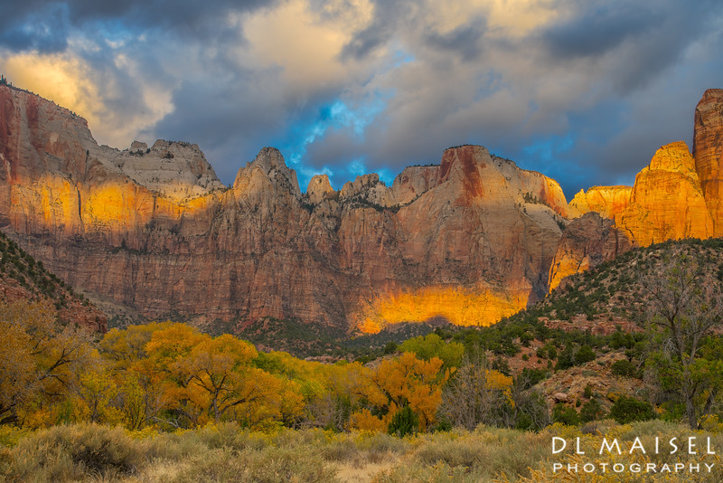 Morning Light Show Zion