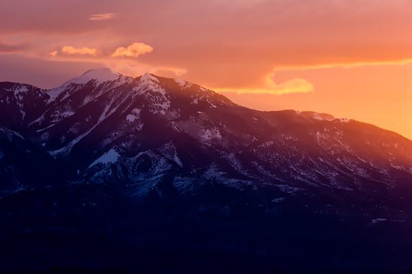 Mountains at Sunrise, Dead Horse State Park, Utah