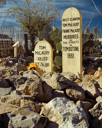 Boot Hill Cemetery, Tombstone, Arizona.