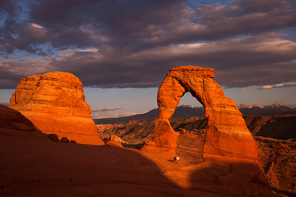Delicate Arch, Arches National Park, Utah. One of the handful of photos I've taken where people are present, they give a sense of scale for the arch.