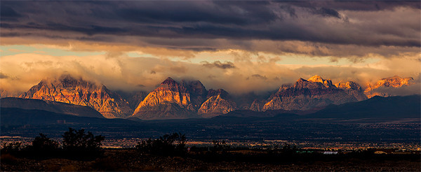 Sunrise, Mountains near Las Vegas, Nevada