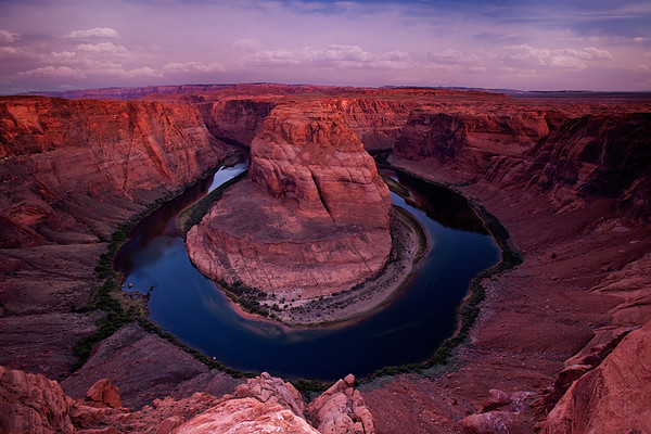 Horseshoe Bend on Colorado River, Page, Arizona.